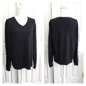 Rag&bone silk wool speckled V-neck sweater L